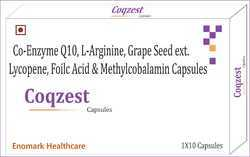 Co-Enzyme Q10 L-Arginine Grape Seed Extract Lycopene Folic Acid and Methylcobalamin Capsules
