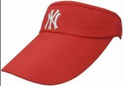 06d8f40f787 Red Solid Sun Visor Sport Adjustable Velcro Tennis Cap