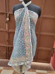 Block Printed Cotton Sarong Scarves