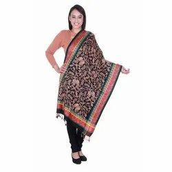 Black Embroidered Viscose Stoles