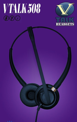 Black Plastic Vtalk VV508 QD Headsets