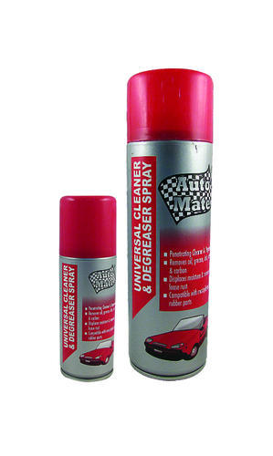 Auto Mate Pressurized Liquid Universal Cleaner & Degreaser Spray, Packaging Size: 70, 280g, Packaging Type: Aerosol Can