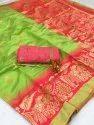 Silk Saree With Beautiful Banglori Blouse