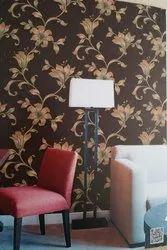 PVC涂层壁纸,为家庭,包装类型:滚动