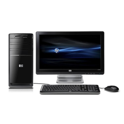 Black HP Desktop Computer