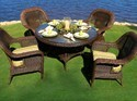 Wicker Garden Furniture Set, Size; 36 Inch