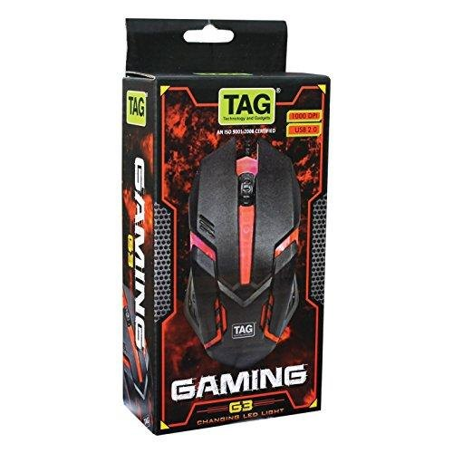 Pack Of 10 Tag Usb G3 Gaming Mouse With Changing Led Light