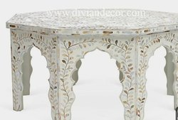 Moroccan Mother of Pearl Inlay Coffee Table
