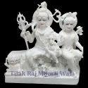 White Marble Shiva Parivar Statue