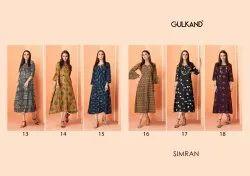 Gulkand Simran Designer Party Wear Cotton Kurties