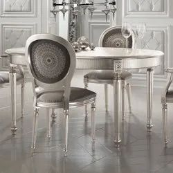 Silver Leaf 4 Seater Dining Table