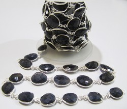 ambika silver Natural Iolite Free Shape beads