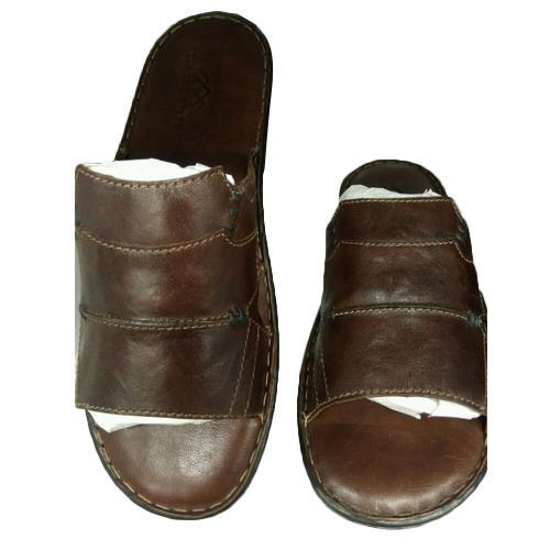 ad2404d29fc2 Mens Brown Leather Sandal