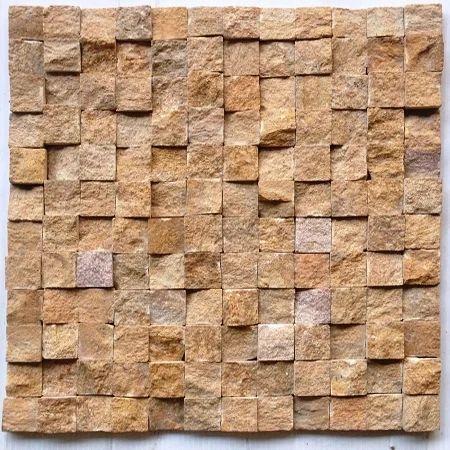 Yellow Sandstone Wall Cladding Mosaic Tile Stone Cladding Axiom