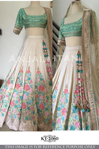 060ce714a683ea Party Wear Latest Designer Embroidered Floral Printed Lehenga Choli ...