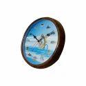Multicolor Shiva Print Round Wall Clock