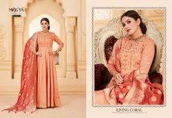 Heavy Anarkali Suit with Dola Silk Dupatta