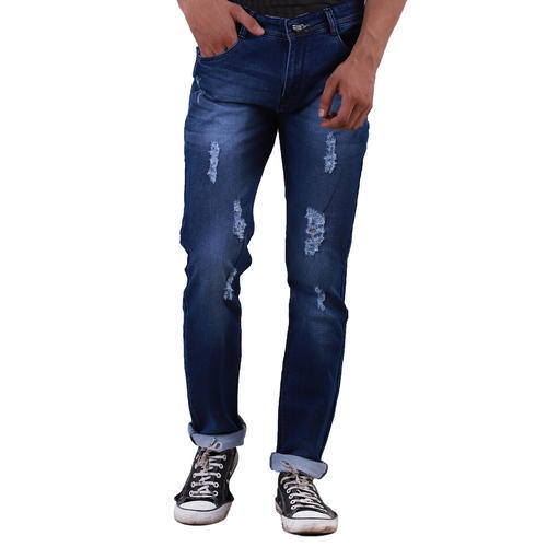 Regular Fit Patch Denim Jeans