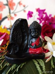 Polyresin Smokey Baby Buddha Statue With Dhoop