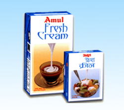 Amul Fresh Cream, Packaging Size: 200 Ml For Household Consumption 1 Ltr For Caterers And Hotels