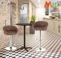MBTC Delton Cafeteria Bar Stool Chair in Light Brown