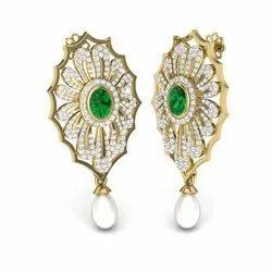 The Selina Gemstone Diamonds Earrings 18K Yellow Gold