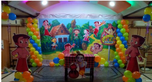 Chota Bheem Theme Decoration Service And Butterfly Theme Decoration