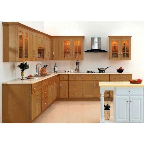 Simple Kitchen Design Hpd453: Wooden Kitchen Cabinet At Rs 2400 /square Feet