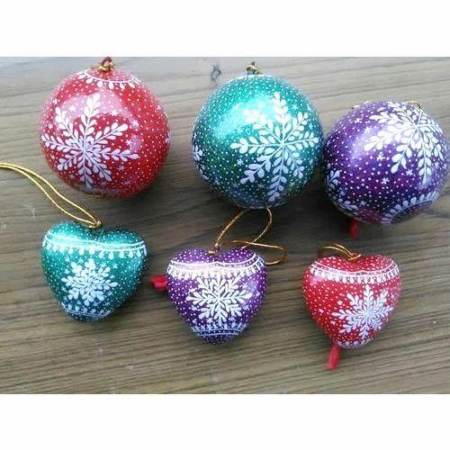Paper Mache Christmas Ornament.Paper Mache Christmas Decoration