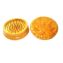 Yellow Color Wooden Herb Grinder , Packaging Type : Carton Box