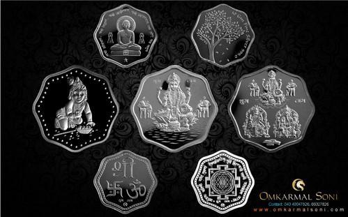 Different Shape Silver Coin Fancy Silver Coin