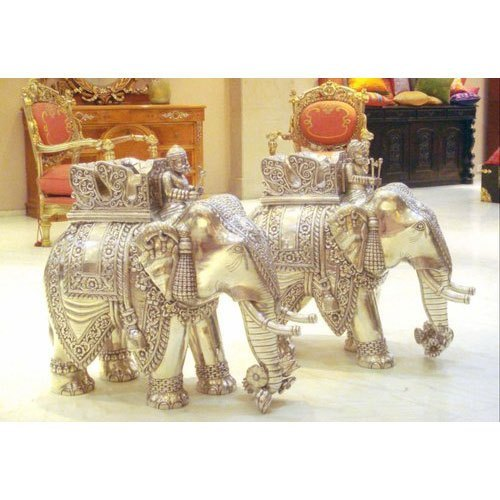 Decorative Silver Elephant Statue for Decorative Purpose