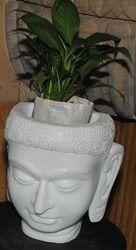 White Marble Buddha Planter