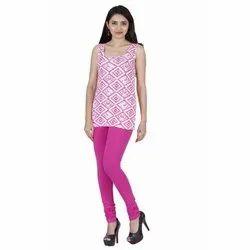 Feather Soft Plain Ladies Lilac Churidar Legging