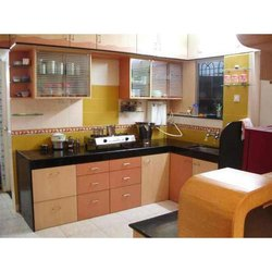 Designer L Shaped Modular Kitchen