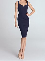 Padded Dress With Sweetheart Neckine Bra Cups