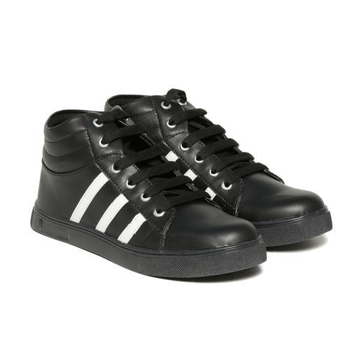 d49ca5e3d Synthetic Trendy Look Black High Sneaker Shoes, Rs 270 /pair | ID ...
