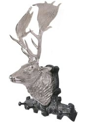 Large Metal Deer Head Stag Wall Animal Sculpture