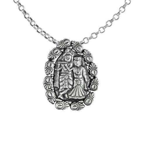 Radha krishna 925 silver handmade pendant at rs 829 piece radha krishna 925 silver handmade pendant aloadofball Gallery