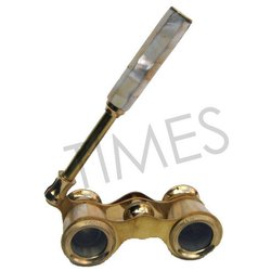 Times Creation Golden Nautical Binocular With Handle, Model Number: Tcil-3056