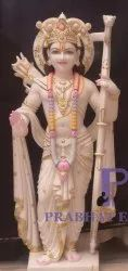Marble Ram Statue with Gold Plated Ornaments