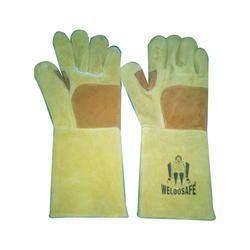 S &M Yellow Welding Heat Resistant Hand Gloves