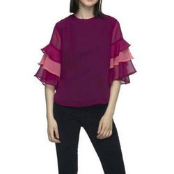 Plain Axcore Trading Company Party Wear Cotton Printed Top