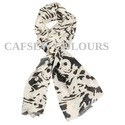 Fancy Printed Wool Scarves