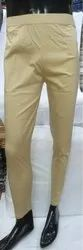 Khaki Ladies Cigarette Pant