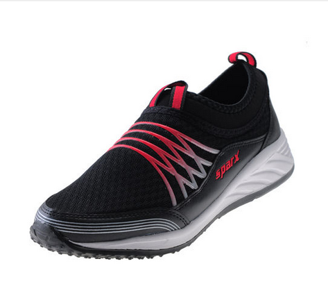 synthetic sparx black / red gents sports shoes sm506 rs