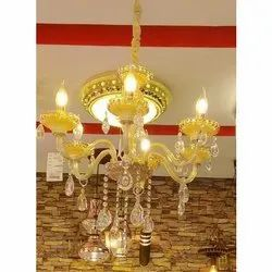 Traditional Glass Fancy Jhoomar Light