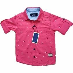 Next Cotton Kids Casual Printed Shirt