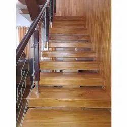 Brown Wood Panel Staircase
