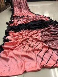 Rajtex Silk Satin Saree, Length: 6.3 m ( With Blouse Pieces)